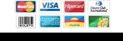 Aceitamos diversos cartões!