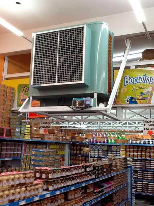 Climatizador e umidificador comercial