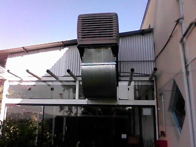 Climatizador evaporativo de teto